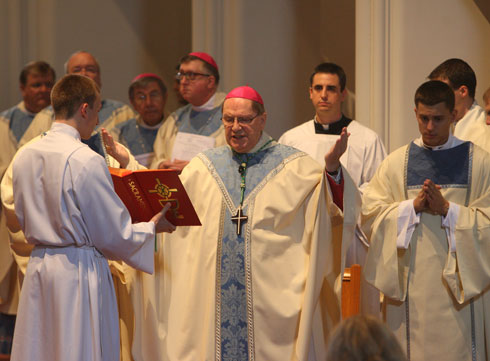 Archbishop Goulet Presiding at Dedication Mass (Catholic Review Photo)