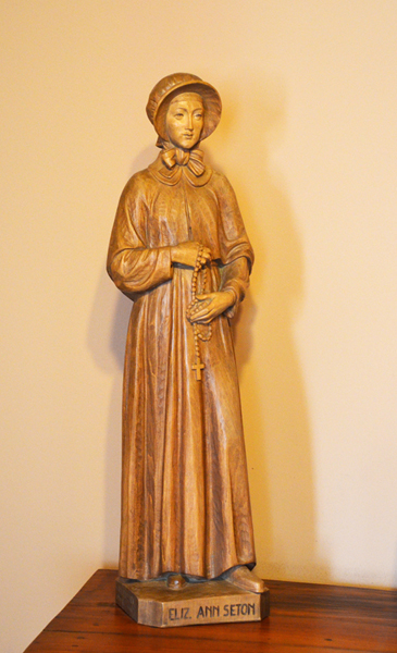 Wood Carving of Elizabeth Ann Seton