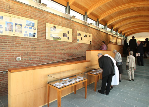 Main Hall at Visitor Center (Catholic Review Photo)