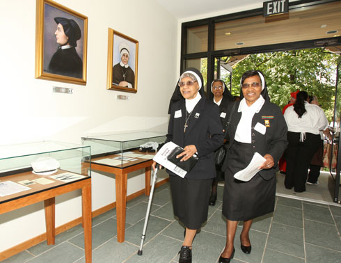 Oblate Sisters Enter Visitor Center (Catholic Review Photo)