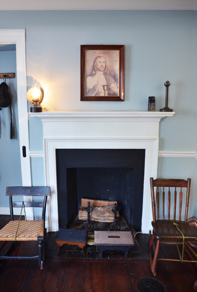 Hearth in Elizabeth Ann Seton's Bedroom