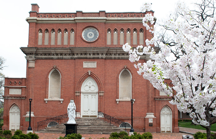 Historic Seminary Chapel in the Spring