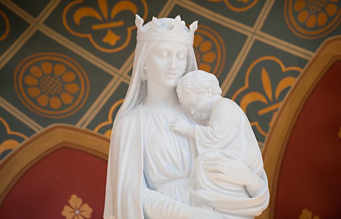 Sedes Sapientiae Statue in the Chapel