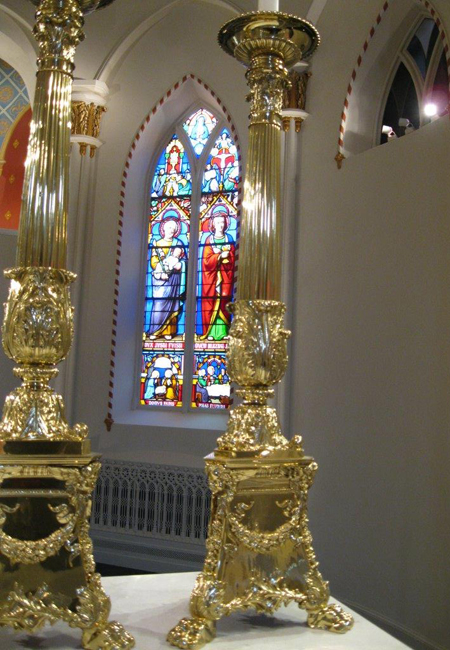 Altar and window in Historic Chapel