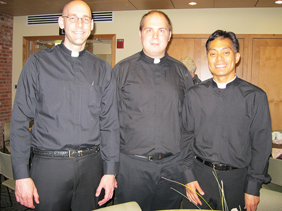 Seminarians James Smith, Nate Brooks, and Edgar Madarang were servers at the tea.