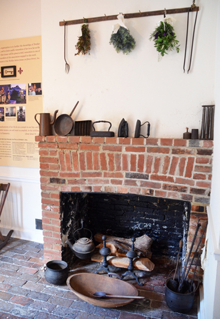 Cooking hearth in Mother Seton House