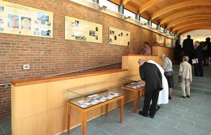 Mother Seton exhibits in main hall in Visitor Center