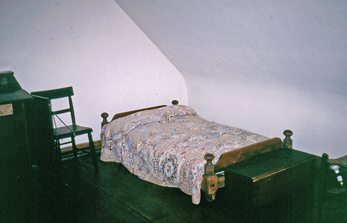A bedroom at Mother Seton House
