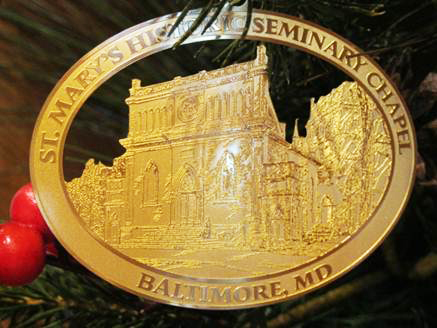 St. Mary's Historic Seminary Chapel Christmas Ornament