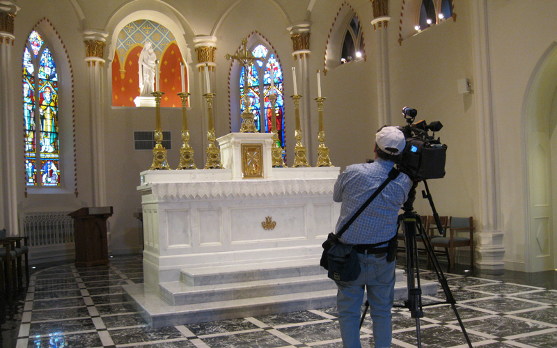 Filming in the Historic Chapel